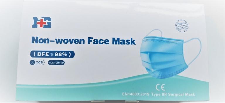Mund Nasenschutz, Gesichtsmaske Typ IIR Medizinischer Mundschutz